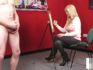 Busty Domina Teasing During Cfnm Scene
