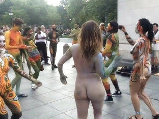 Body Painted Naked In Streets