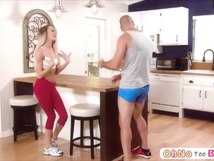 Tiffany Watson Drops On Her Knees To Slobber A Bigcock