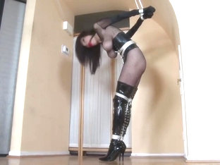 Ashley Renee Ballgag Boots Corset