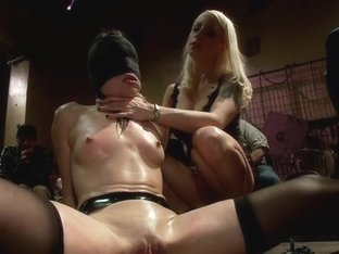 The Last Laugh: Audience Of 70 Humiliates Juliette March, Giggling Tight Bodied Whore!!