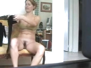 Sexy MILF Spied On Nude Cam Dressing On Erotic Lingerie