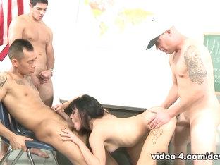 Amazing Pornstar Binky Bangs In Hottest Gangbang, Brunette Adult Scene