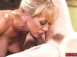 Brunette MILF Sex With Massage