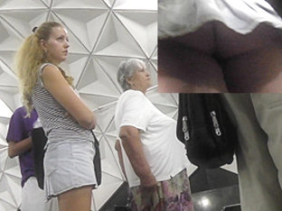 While Train Is Coming, Voyeur Captures Upskirt Ass
