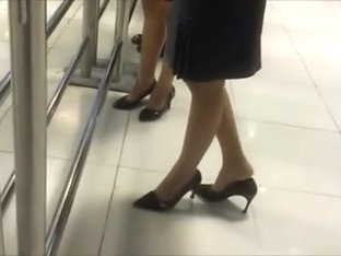 Two Candid Nylon Shoe Dippers