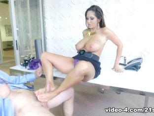 Hottest Pornstar In Best Milf, Foot Fetish Adult Clip