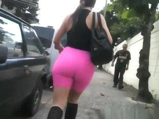 Big Ass Sporty Chick Tight Shorts