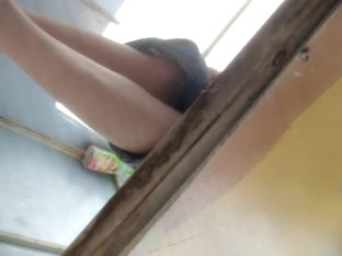 Gorgeous Long Legs Of Amateur In Changing Room