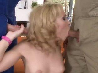 Skinny Blonde Fuck Sandwich