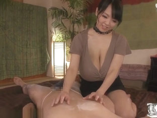 Big Tits Asian Giving A Massage