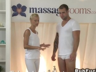 Big Dicked Guy Gets Cock Massaged