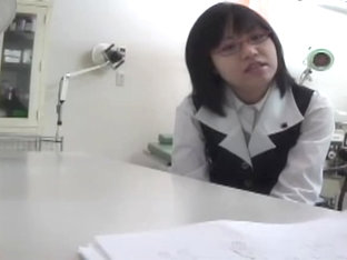 Nerdy Japanese Teen Got Her Cunt Examined By A Naughty Gyno