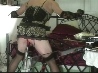 Naughty Sissy Spanked And Fucked