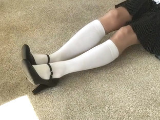 Me  My White Knee Socks And My Maryjane Heels