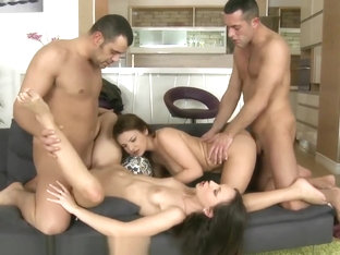 Two Dirty Girls In One Hot Foursome
