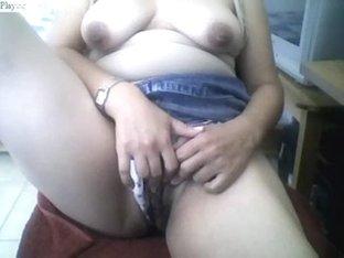 Plump Angel Masturbating On Work