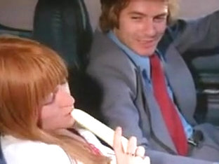 Vintage Hairy French Redhead Sucks And Toys In Car