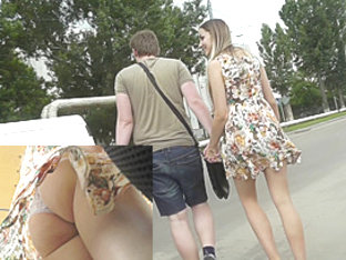 The Boyfriend Is Not A Problem To Upskirt This Babe