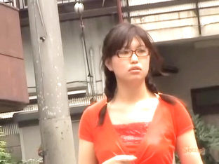 Innocent Oriental Trick Minding Her Own Business During Sharking Affair