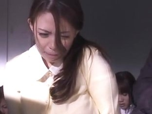 Hot Asian MILF In An Office Suit In Horny Group Fucking
