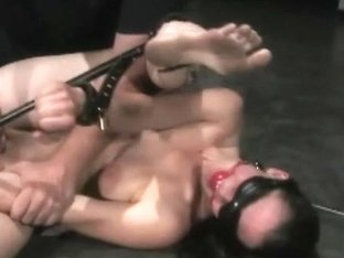 Fastened Spanked And Sextoy-drilled