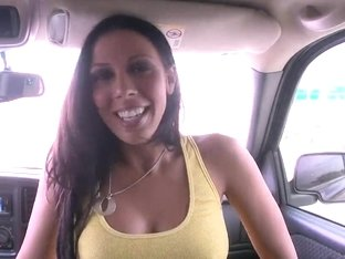 Lusty Rachel Starr Takes Hard Pecker In The Car
