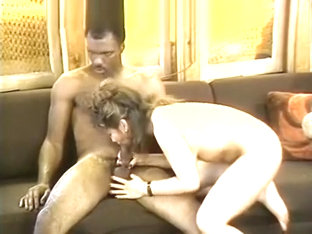 White Retro Pussy Attacks Black Rod