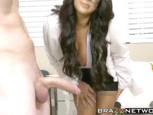 Naughty Big Boobs Milf Doctor Taking Hard Stiff Cock In Cunt
