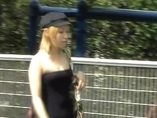 Public Sharking Video Of Extremely Sexy Slender Asian Hottie