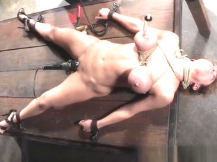 Bound Sub Punished With Pump And Vibrator