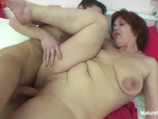 Mature Brunette Catches Him Masturbating - Mature'ndirty