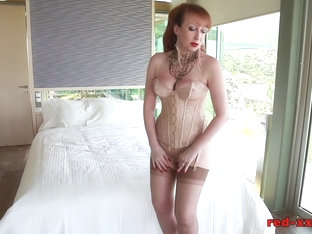 British Redhead Red Masturbating In Front Of The Window