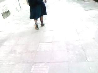 Mature Babe Walking In Black Heels