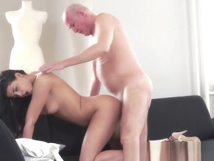 Classy Teen Banged By Grandpa After Oral