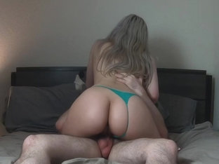Blonde Girlfriend's Pussy Filled With Cum - 4k - Nikkierae