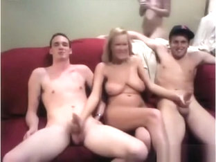Homemade College Oral Foursome