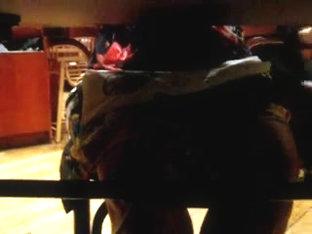 Peeking Slip In Restaurant