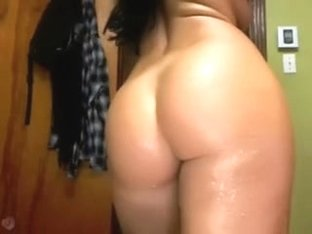 French Canadian Brunette Does Strip Tease
