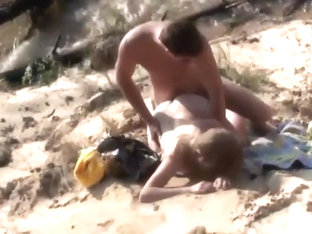 Hard Fucking Caught On A Hidden Beach