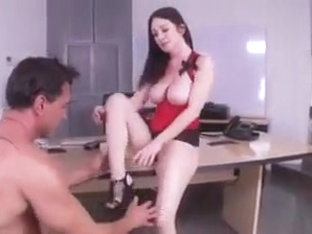 Brunette Milf With Big Tits Loves That Cock And Foot Worship