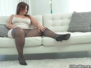 Curvy MILF Montse Swinger From Spain Sits On Dildo