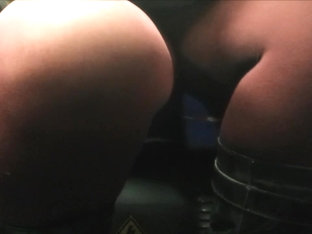 Red Tights Upskirt In The Evening