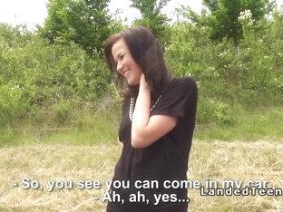 Stranded Teen Cutie Bangs Huge Dick Outdoor