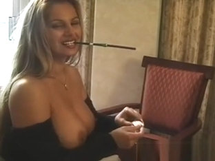 Young Slut In Underware Playing With Herself Whilst Smoking