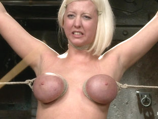 Cherry Torn In Blonde With Big Natural Breasts - Rode Hard - Hogtied