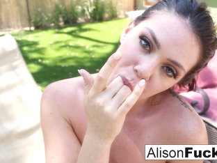 Alison Tyler In Sun Bathing Leads To A Masturbation Session By The Pool - Alisontyler