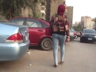 Another Hijabi With Tight Jeans And Nice Ass Walking!
