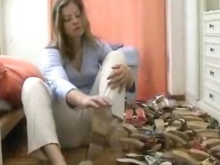 Lovely Woman Trys On Different Shoes In The Foot Fetish Vid