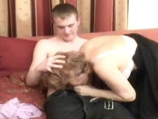 Russian Mamma Is Drilled By Her Man